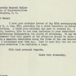 Letter: 1953 June 10