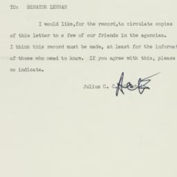 Memorandum : 1954 April 15