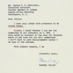 Letter : 1954 July 23