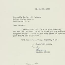 Letter : 1955 March 28