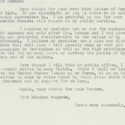 Letter : 1956 September 18