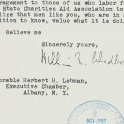 Letter : 1937 October 28