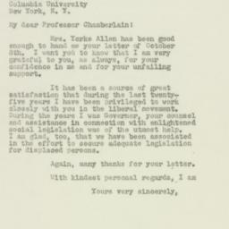 Letter : 1949 October 11