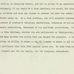 Speech: 1941 May 18