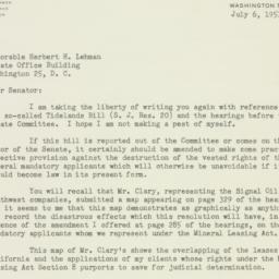 Letter: 1951 July 6