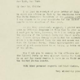 Letter : 1946 July 19