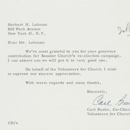 Letter : 1962 October 31
