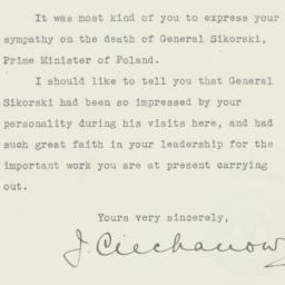 Letter : 1943 July 7