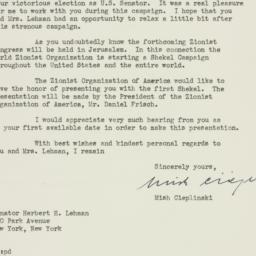 Letter : 1949 November 16