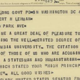 Telegram : 1958 June 4