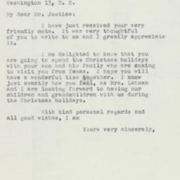 Letter: 1952 December 6