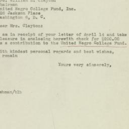 Letter : 1945 April 20