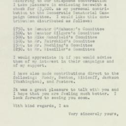 Letter : 1952 September 26