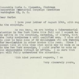 Letter : 1954 August 13