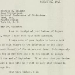 Letter : 1947 August 26