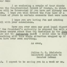 Letter : 1950 September 19