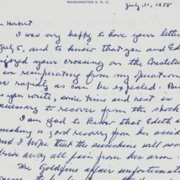 Letter : 1958 July 11