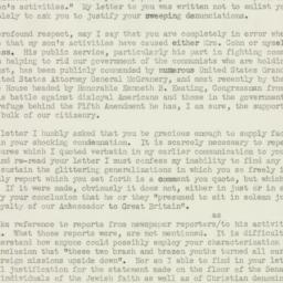Letter : 1953 August 10