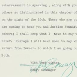 Letter : 1958 May 11