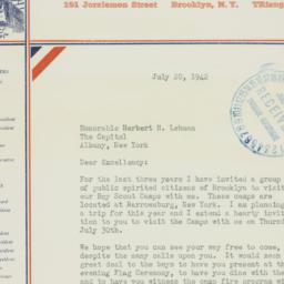 Letter : 1942 July 20