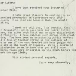 Letter : 1956 October 26