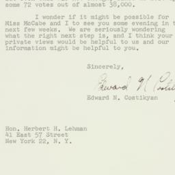 Letter: 1959 November 4