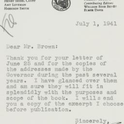 Letter : 1941 July 1