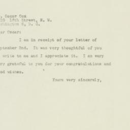 Letter : 1949 September 9