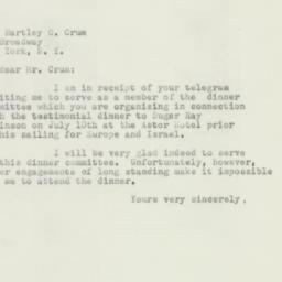 Letter : 1952 July 4
