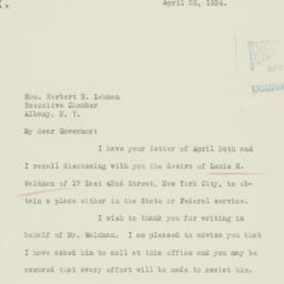 Letter : 1934 April 25