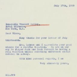 Letter : 1939 July 17