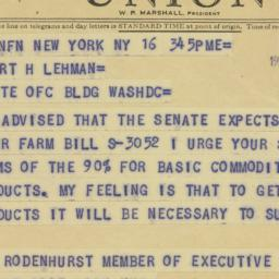Telegram: 1964 July 16