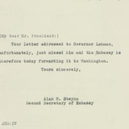 Letter : 1943 April 27