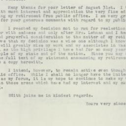 Letter : 1956 September 4