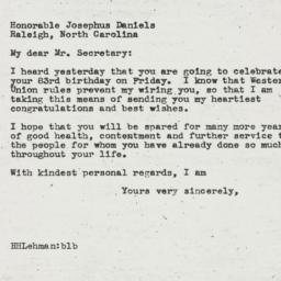 Letter : 1945 May 16