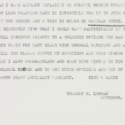 Telegram : 1940 November 9
