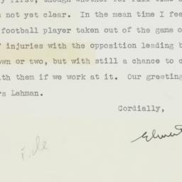 Letter : 1953 November 2