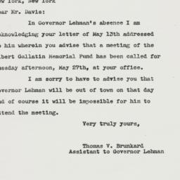 Letter : 1947 May 16