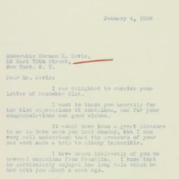 Letter : 1933 January 4