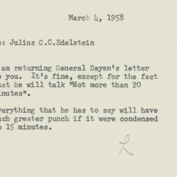 Memorandum : 1958 March 4