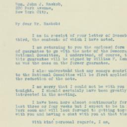 Letter : 1930 December 8