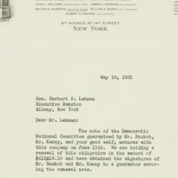 Letter: 1931 May 18