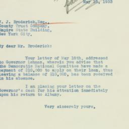 Letter : 1933 May 18
