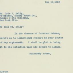 Letter : 1933 May 19
