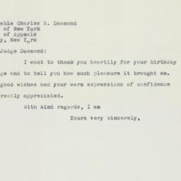 Letter : 1958 April 15