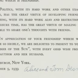 Note: 1939 October 9