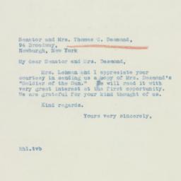 Letter: 1939 November 4