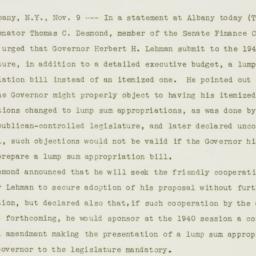 Press release : 1939 Novemb...