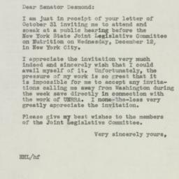 Letter: 1945 November 5