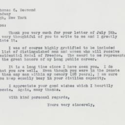 Letter : 1963 July 9